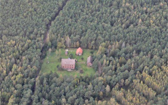 Widok na Osadę Latarników z lotu ptaka.