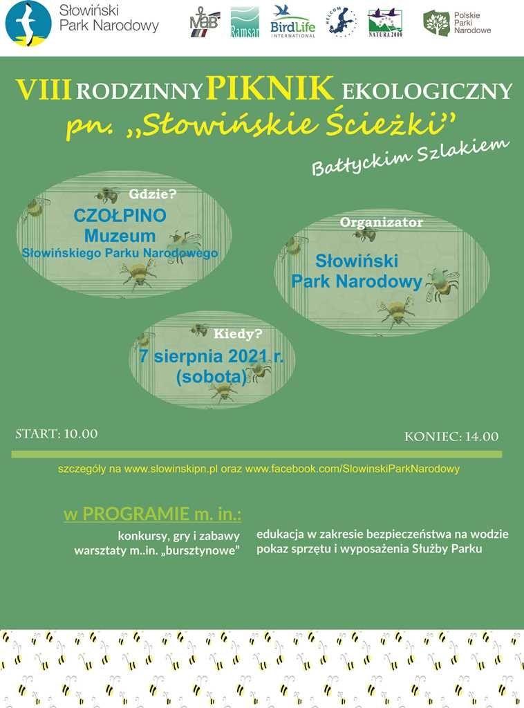 Program VIII Rodzinnego Pikniku Edukacyjnego wformie plakatu